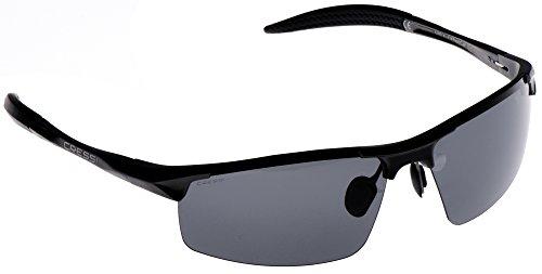 Cressi Cabrio Sonnenbrille, Glänzend Schwarz/Linsen Grau, Uni (Schwarz Und Grau Sonnenbrille)