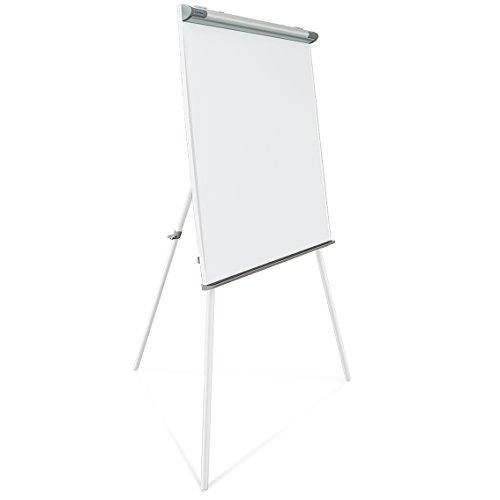 Master of Boards® Profi Flipchart mit Dreibein-Stativ | vielseitig einsetzbar | ausklappbare Papierhalter | Whiteboard mit Ständer | verstellbar
