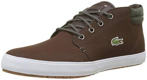 Lacoste Herren Ampthill Terra 318 1 Cam Sneaker, Braun (Dk BRW/Khk 2n7), 41 EU (Braune Lacoste Schuhe)