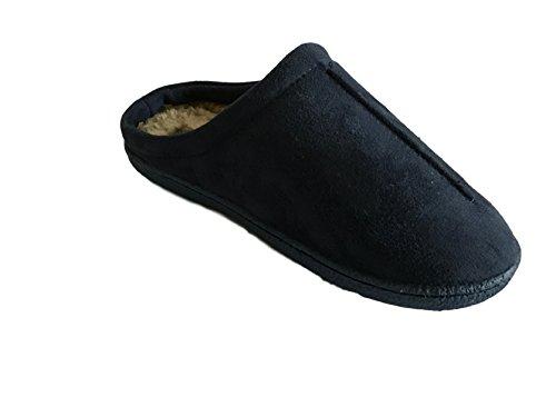 Azuis Homens 12 7 Mulas De Penhasco Chinelos Tamanho Camurça Sapatos Lã Deslizamento Em Falso faFBqf