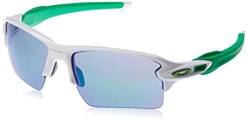 Oakley Herren 0Oo Flak 2.0 XL 918863 59 Sonnenbrille, Weiß (Polished White/Jadeiridium),