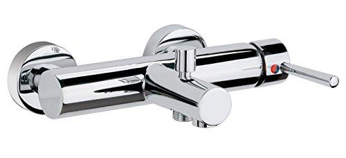 Einhandmischer Fontain für Wanne | Chrom | Wasserhahn | Einhebelmischer | Badewannenarmatur | Wannenbatterie (Wanne Äußere)