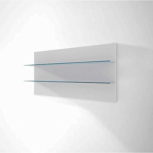 Design Wohnwand in Weiß Hochglanz Beleuchtung (4-teilig) Mit blauer Beleuchtung Pharao24 - 4