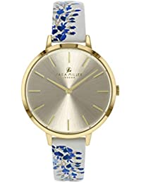 Sara Miller The Wisteria Collection SA2042 - Reloj con Correa de Piel chapada en Oro Blanco