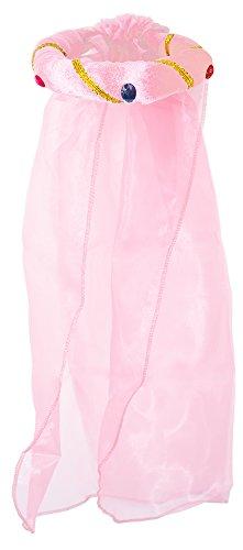 Rosalin für Mädchen zum Prinzessin oder Burgfräulein Kostüm - Rosa (Rosa Kind Von Prinzessin Hut)