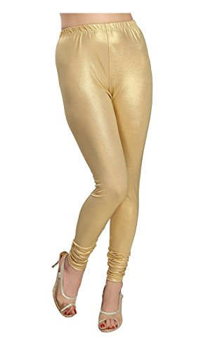 Golden chudidar Full length Leggings for Women's (M)