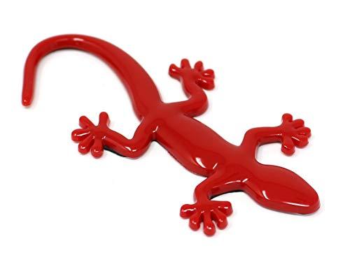 3D Emblem Gecko mit Schaumstoff Kleberückseite von VmG-Store (Rot) -