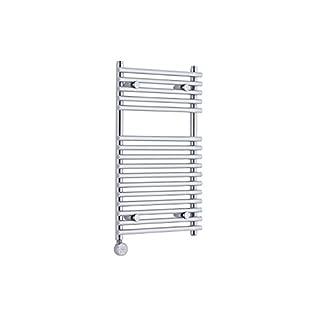 KUDOX Chrome 750mm x 450mm Electric Flat Bar on Bar Heated Towel Rail