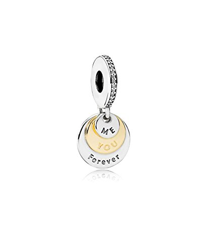 PANDORA - pendente col You and Me sempre in argento 925/1000 e 585/1000 oro Pandora 791979CZ