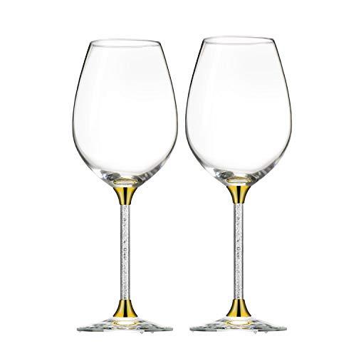 Sofia's Weingläser, extra hoch, höchste Qualität, mit Swarovski-Steinen, das perfekte...