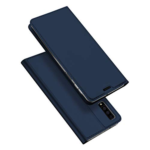 Dux ducis cover galaxy a7 2018,flip folio case,funzione stand,1 slot carte,magnetica,ultra slim custodia per samsung galaxy a7 2018 (blu)