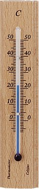 Holz-Thermometer natur Höhe: 14c -
