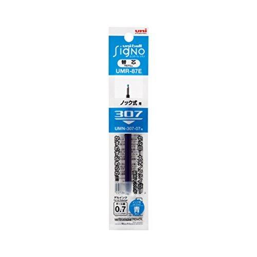 Mitsubishi Pencil Uniball Signo 307 replacement core 0.7 blue UMR 87 E.33 5 Japan