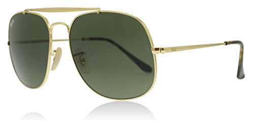 Ray-Ban RB3561 001 Gold RB3561 Square Sunglasses Lens Category 3 Size 57mm
