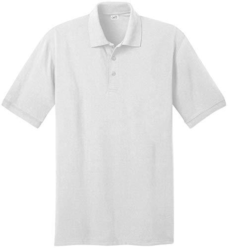 Joe's USA Herren Poloshirt Kurzarm in 21 Farben Größen: XS-6XL - Weiß - Klein -