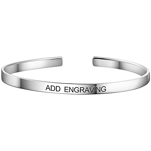 Soufeel Personalisierte Damen Armreif Armband mit Gravur 925 Sterling Silber