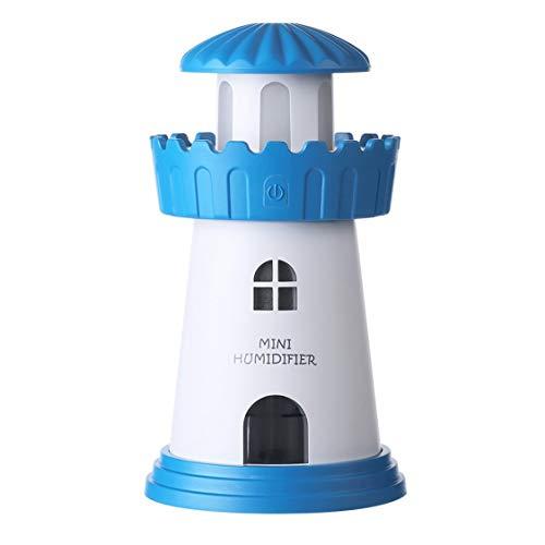 150ml Lampe Leuchtturm Befeuchter USB führte Air Diffuser Purifier Atomizer Turm Ätherisches Öl Diffusor für Heim difusor de Aroma - Blau