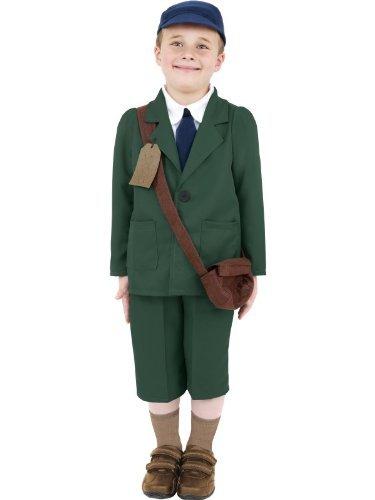 1940er Kriegszeit Kostüm Kinder Kostüm 2. Weltkrieg Evajuierter Junge Kostüm Gr. M 7-9 jahre