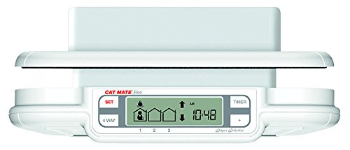 Cat Mate Elite Microchip Cat Flap with Timer Control – White