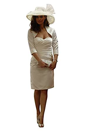 Standesamt Kleid mit Bolero 32 ivory: Amazon.de: Bekleidung