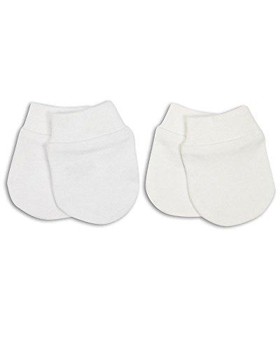 The Essential One - Baby Kratzhandschuhe für Neugeborene/Kratzfäustlinge/Kratzfäustel, Neugeborenenhandschuhe (2 Paar)