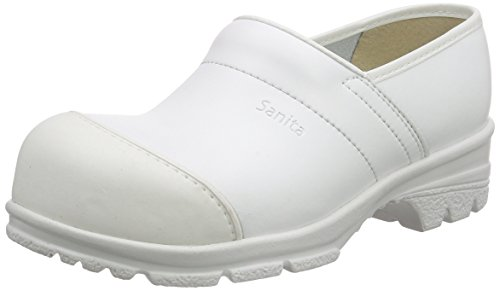 Sanita San-Duty Closed-s2, Sabots Mixte Adulte Blanc - Weiß (White 1)