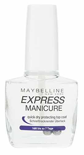 Maybelline New York Make-Up Nailpolish Express Manicure Überlack Quick Dry / Ultra schnelltrocknender Top Coat, 1 x 10 ml
