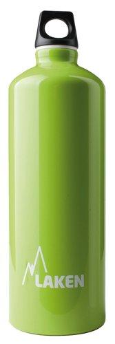Bottiglia d'acqua Laken Futura bocca stretta tappo a vite con anello e moschettone - 1 Litro, Mela Verde