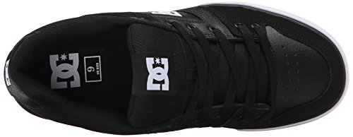 DC Shoes Pure Slim Shoe, Chaussures de skate homme Black/Black/White