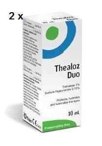 2 x Thealoz Duo Augentropfen 10ml NEU -
