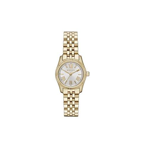 Michael Kors Damen Analog Quarz Uhr mit Edelstahl beschichtet Armband MK3229