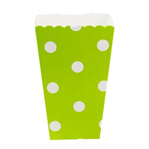 rty Papier Geschirr Popcorn Eimer Snack Tassen, Grüne Punkte ()