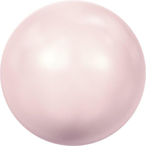 Swarovski Kristalle 613101 Glaswachsperlen 5810 MM 12,0 Crystal Rosaline Pearl, 100 Stück