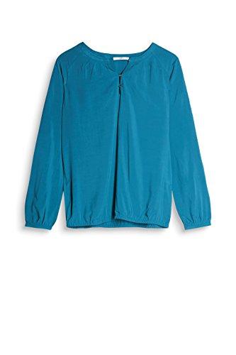 edc by ESPRIT Damen Bluse Blau (Teal Blue 455)