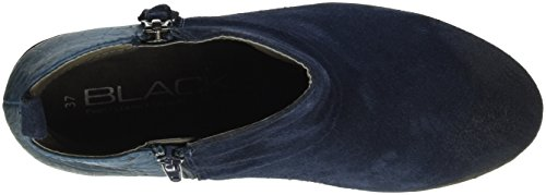 Unbekannt - Leder-stiefelette, Stivali a metà polpaccio con imbottitura leggera Donna Blu (Blau (820 DK. DENIM VL))