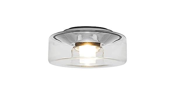 Plafoniere Vetro Trasparente : Serie curling ceiling plafoniera led m paralume in vetro