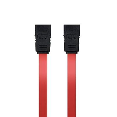 Nano Cable 10.18.0102 - Câble de données SATA pour périphériques, Rouge, 1mts par TooQ Technology SL