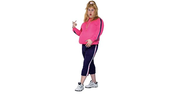Ladies 80s SHELL SUIT Vicky Pollard Fancy Dress Costume Pink Adult Funny Outfit