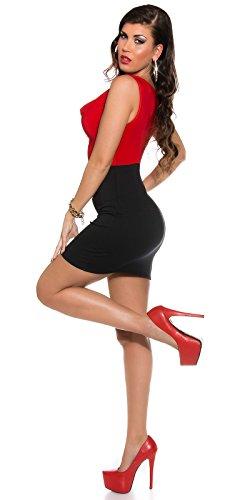 In-Stylefashion - Robe - Femme Marron Marron Rouge - Rouge