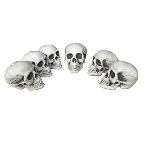 ekoration Viel Kleiner Schädel Kunststoff Halloween Requisiten Friedhöfe Dekorationen ()