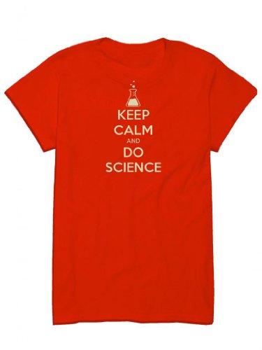 KEEP CALM AND DO SCIENCE, geek, nerd, chemistry, physics war poster parody Men's T-Shirt