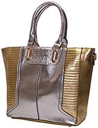 Senora Handbag For Women (Colour-Goldsilver)
