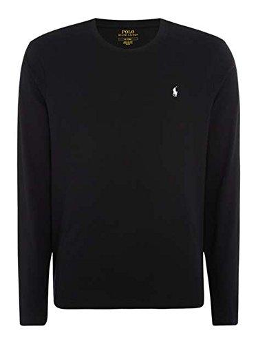 Ralph Lauren RL Polo Herren Modern Langarmshirt, Logo Gr. XXL, Schwarz Ralph Lauren-polo-logo