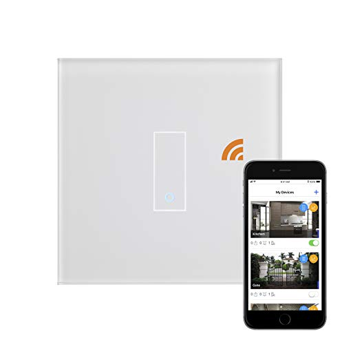 Retrotouch Iotty 1 Gang Smart WiFi on/off switch – bianco 03500