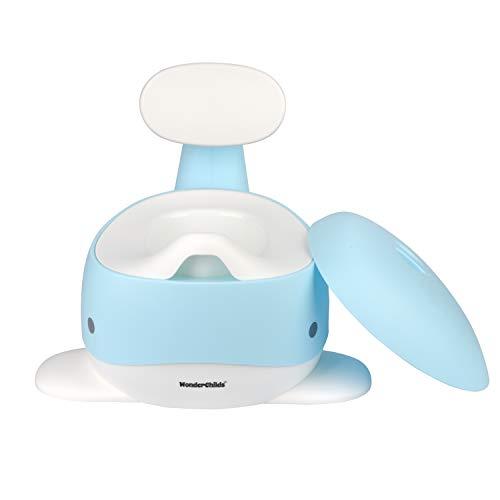 WONDER CHILDS Bambini vasino formazione vasino vasino bambino vasino toilette con coperchio e contenitore sfoderabile è ideale per una bambina e un ragazzino