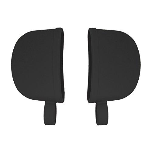 Atekuker Silicone Hot Handle Covers, Pan Handle Holders Sleeves (Black)