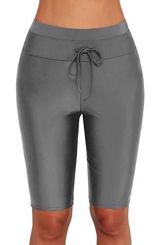 Ocean Plus Mujer Protección UV Negro Shorts hasta la Rodilla Bañador 3/4 Pierna Traje de Baño Parte...