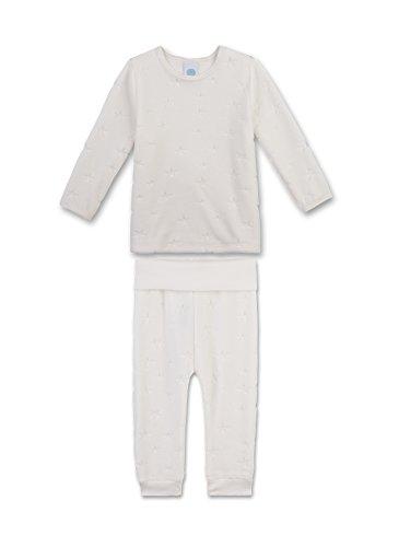 Sanetta Baby-Mädchen Zweiteiliger Schlafanzug 221364, Beige (Broken White 1427), 92