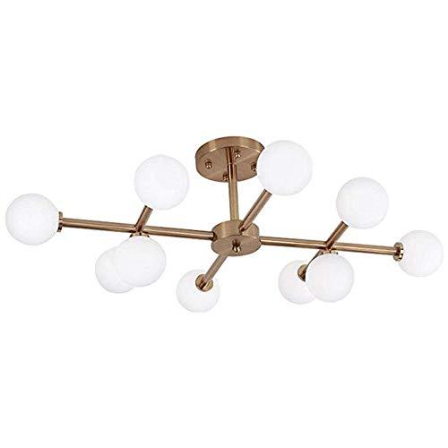 FTFTFTF Deckenleuchte, Deckenleuchte LED Moderne warme Beleuchtung Kronleuchter kreative Glas gerade Röhre für Schlafzimmer Wohnzimmer Studie, Messing, 90x23cm,1 (Glas Geblasen Rohre)