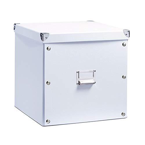 Zeller 17620 Aufbewahrungsbox, Pappe / 33.5 x 33 x 32, weiß